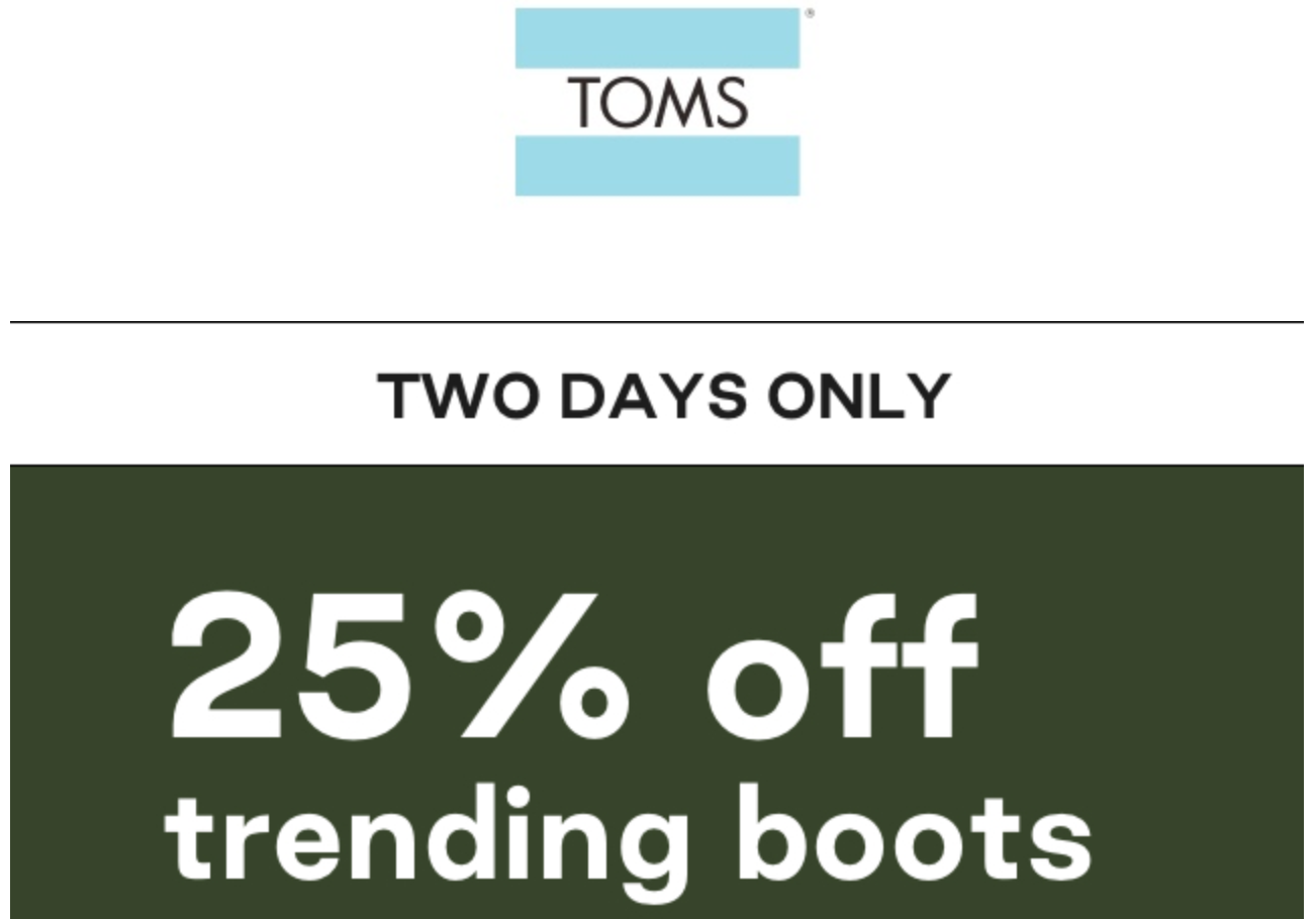 off Trending Boots with Coupon Code