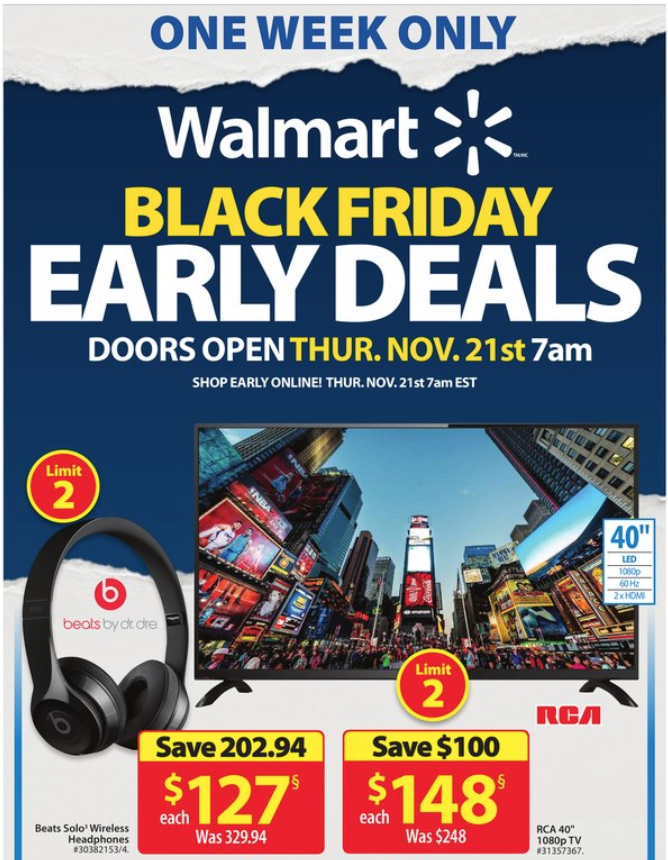 Walmart Canada Black Friday 2019 Early Deals Flyer Hot Canada Deals Hot Canada Deals