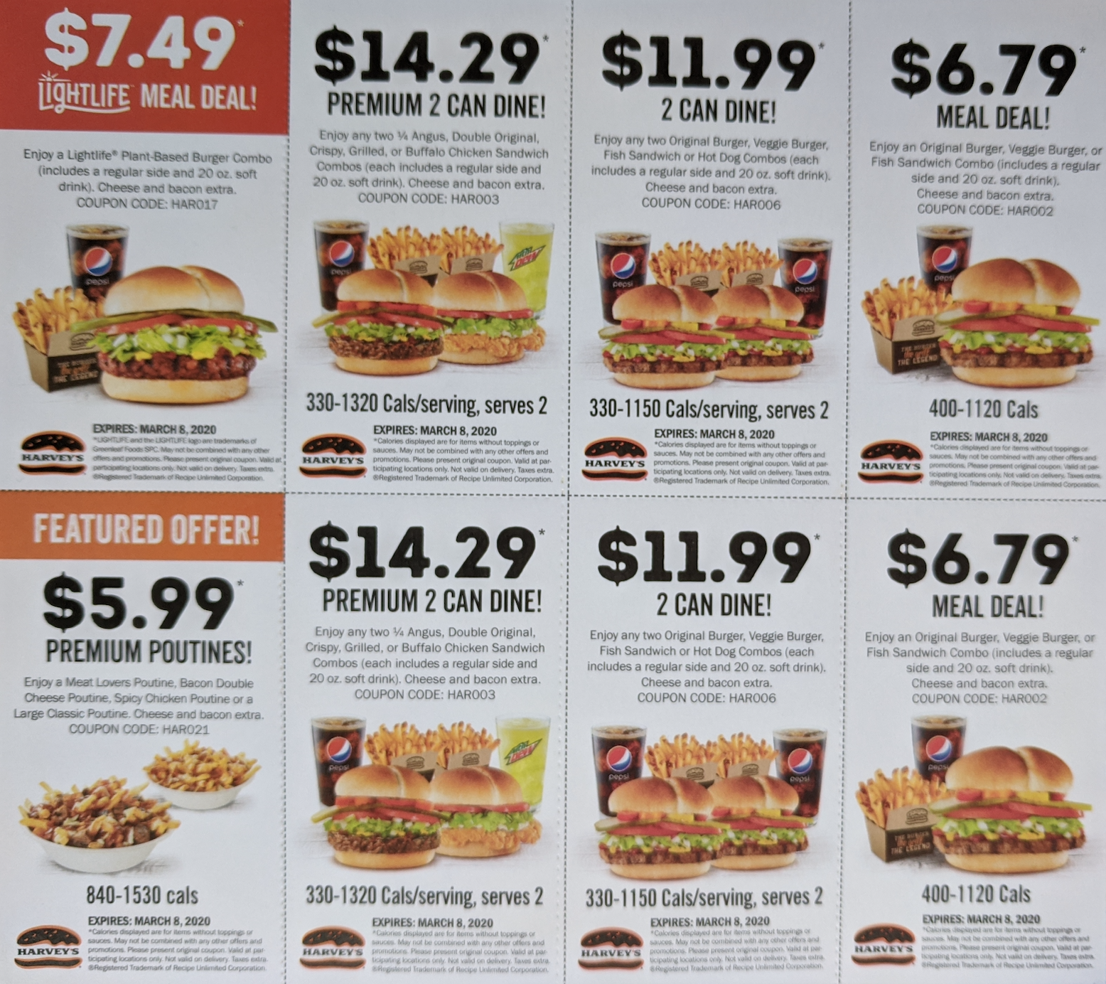 Harvey S Canada New Coupons Chicken Wrap For 5 49 Meal Deal For 6 79 Angus Meal Deal For 7 79 More Coupons