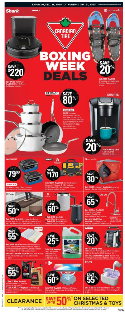 Canadian Tire Canada Flyers, Boxing Day/Week Flyers ...